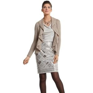 🥂20%OFF WHBM Gold & Silver Sequined Pencil Skirt